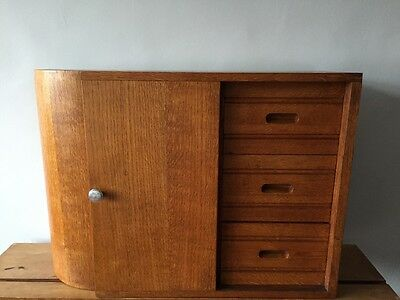 Art Deco Wall Cabinet Old English Oak