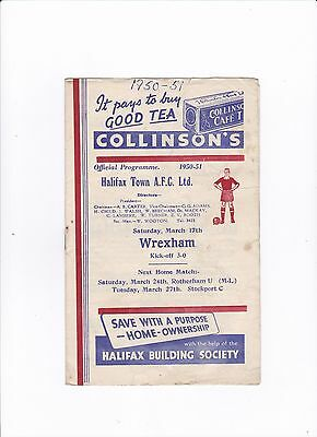 1950/51 Halifax Town v Wrexham (Division 3 North)
