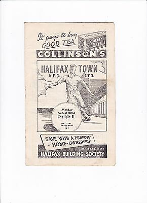 1955/56 HALIFAX v CARLISLE UNITED (Division 3 North)