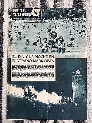 1957 Real Madrid Revista August 1957