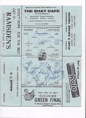 1962/63 HALIFAX TOWN v BRISTOL ROVERS (DIVISION 3) ***SIGNED***