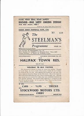 1953/54 CORBY TOWN v HALIFAX TOWN (Midland League)