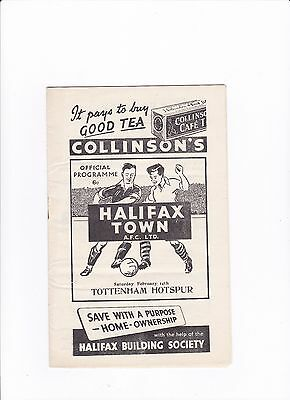 1952/53 HALIFAX TOWN v TOTTENHAM HOTSPURS / SPURS (FA CUP 5th ROUND)