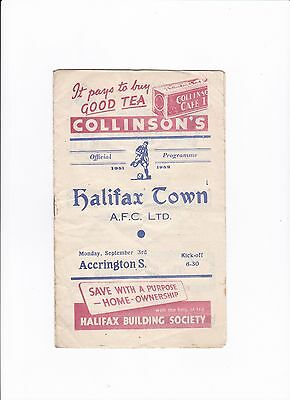 1951/52 HALIFAX TOWN v ACCRINGTON STANLEY (DIVISION 3 NORTH)