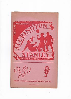 1950/51 Accrington Stanley v Halifax Town (Division 3 North)