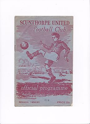 1950/51 Scunthorpe United v Halifax Town (*1st League Season*) Division 3 North