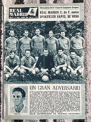 1956 Real Madrid Revista November 1956 European Cup Sk Rapid Wien Vienna