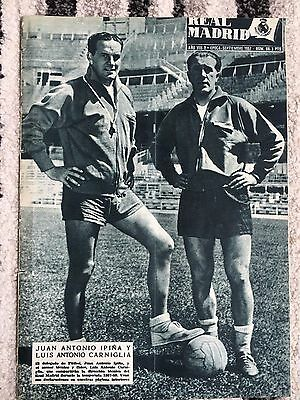 1957 Real Madrid Revista September 1957 Roc Charleroi Belgium Friendly