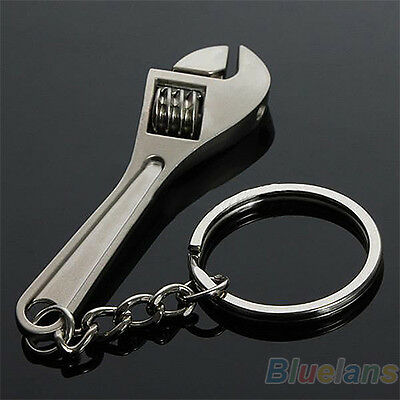 Creative Tool Wrench Spanner Key Chain Ring Keyring Metal Keychain Adjustable
