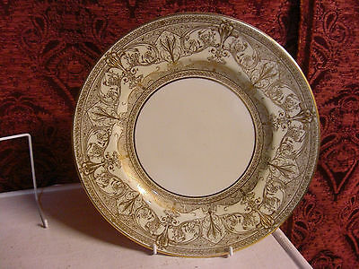 Royal Worcester Heavily Gold Embossed dinner plate,10and 1/2inch