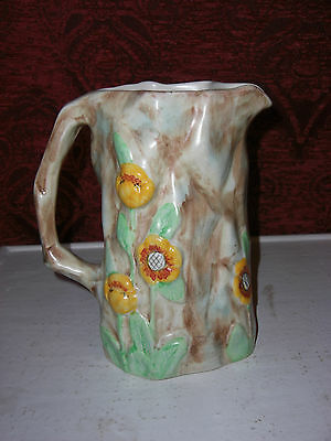 Edward Radford Art Deco 1930s Hand Painted English Butterfly Porcelain Jug
