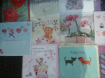 50 female cards, wholesale joblot greeting card