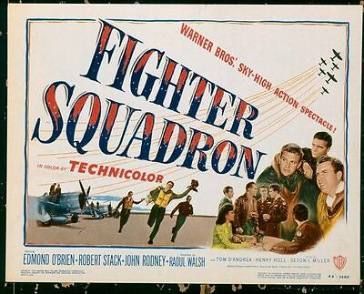 FIGHTER SQUADRON, 1948, Edmond O'Brien, Raoul Walsh, SCARCE US Title Lobby Card*