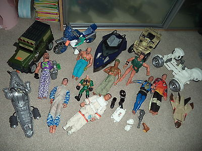 REDUCED Large ACTION MAN toys figures and vehicles bundle BARGAIN