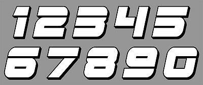 Numeros Course Racing Numbers Drift Tuning Moto Autocollant Sticker Nu019Bn