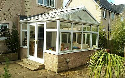 White UPVC Conservatory - 15sqm approx.