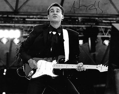 andrew ridgeley playing guitar WHAM final gig WEMBLEY signed 10x8 photo PROOF