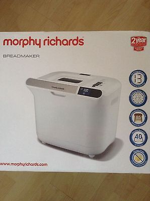 Morphy Richards 48326 Manual Cool Touch Breadmaker - Brand NEW - 2yrs Guarantee
