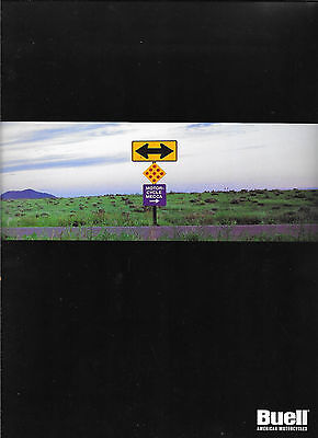 Rare Large Format Buell Deluxe Motorcycle Brochure  M2 S1 S3 Models 1997