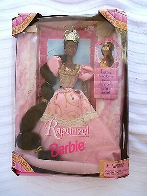 VTG 1997..BARBIE..RAPUNZEL..AFRICAN AMERICAN..DOLL..NEW in BOX
