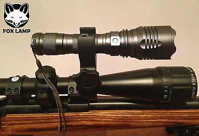 scope mounted night vision flashlight torch lamping fox hunting rabbit shooting