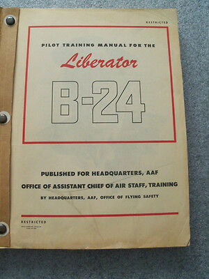 ORIGINAL B-24 Liberator Pilot Training Manual AND Instructor's Supplement 292 pp