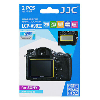 2x LCD Film Screen Display H3 Hard Protection Camera Photo for Sony Alpha A99II