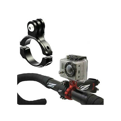 Bicycle Bike Aluminum Handlebar Bar Clamp Mount for GoPro Hero SJ4000 Camera BK