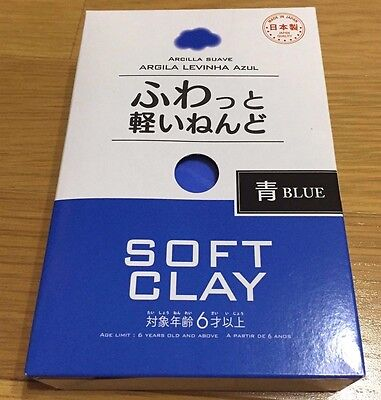 Daiso JAPAN DIY Soft Clay Arcilla Suave Lightweight color BLUE made in Japan