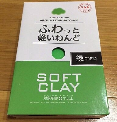 Daiso JAPAN DIY Soft Clay Arcilla Suave Lightweight color GREEN made in Japan