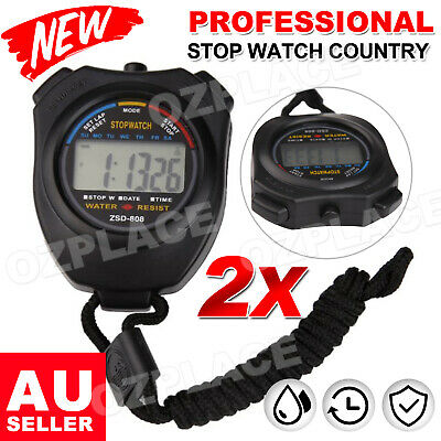 Premium Jumbo Stopwatch Handheld Waterproof LCD Sports Counter Digital Timer