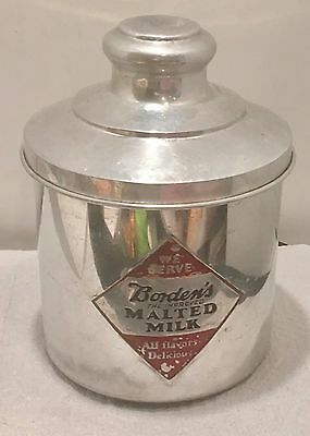 Vintage Bordens Malted Milk Soda Fountain Cannister
