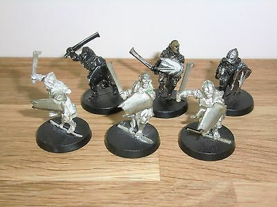 Warhammer Lord of the Rings LOTR - Uruk-hai Scouts Sword & Shield x 6 - Metal