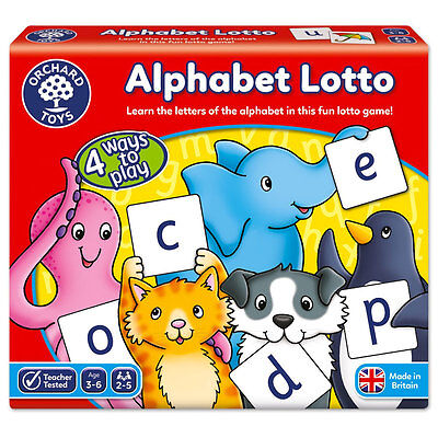 NEW Orchard Toys - Alphabet Lotto Game