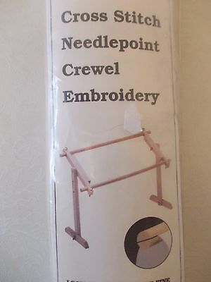 NEW scroll frame + adjustable lap table stand cross stitch embroidery tapestry