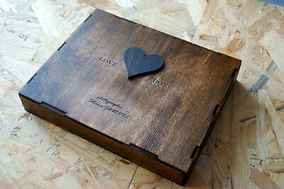 Wooden Box Photo Album brown Handmade with your logo Wood box Photography