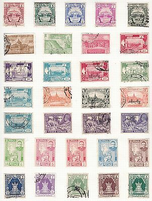 F286:  Burma two album Pages George VI onwards 70+ Stamps