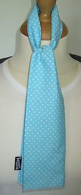 SUPERNOVA Turquoise Blue Polka Dot Baby Toddler Mod Scarf 6 months - 3 yrs SALE