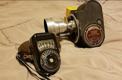 Bell and Howell Filmo Turret camera with Sekonic L II meter