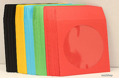 400 Generic Multi Colors CD DVD Video Game Paper Sleeve With Window Flap 90g