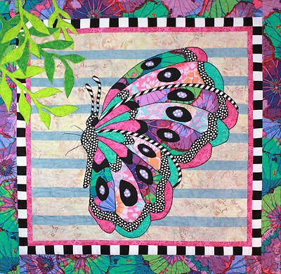 BEATRICE BUTTERFLY QUILT PATTERN, Fun Applique Wall Quilt From BJ Designs NEW