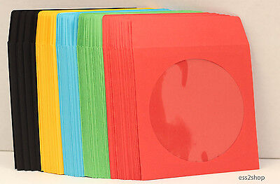 1000 Generic Multi Colors CD DVD Video Game Paper Sleeve With Window Flap 90g