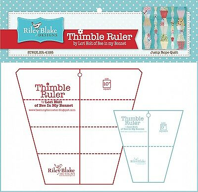 """5"""" & 10"""" THIMBLE RULER PACK, from Riley Blake Designs, *NEW*"""
