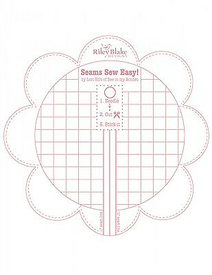 SEAMS SO EASY SEAM GUIDE (PINK COLOR), from Riley Blake Designs, *NEW*