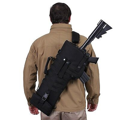 Black Hunting Tactical Rifle pouch Scabbard Gun Case Military Shoulder Carry Bag