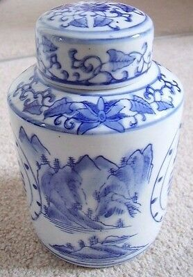 Chinese porcelain blue and white big bowl-vase-jar-pot with cover