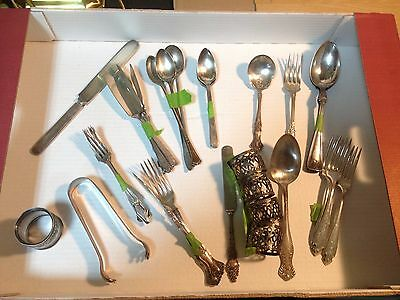 Antique mixed lot of silver plated flatware