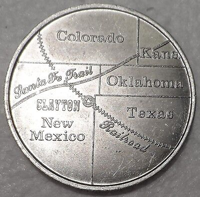 1988 Clayton, NM Centennial $1 Dollar Trade Token - New Mexico