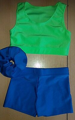 Lycra  Freestyle/Beginner/ Gymnastic/Dance Costume/Outfit Size5-6yrs Approx