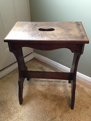 Antique Church Perching Stool With Handle
